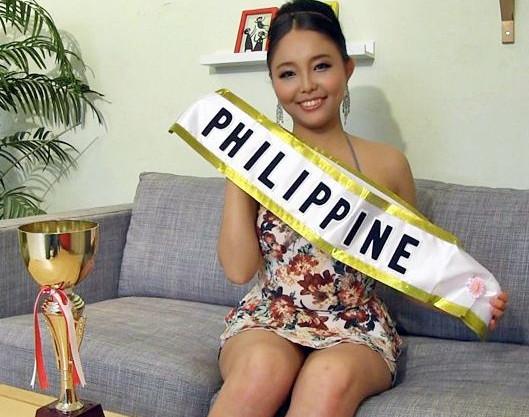 ミスコン最終選考出のフィリピン美女がまさかの日本で来日デビュー!世界が称える美貌にチンポが勃起