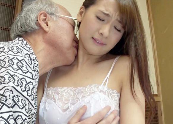 旦那の親父を日々肉体介護する女教師の奥さんが劣情爺さんの冥途の土産にマンコを提供してしまう