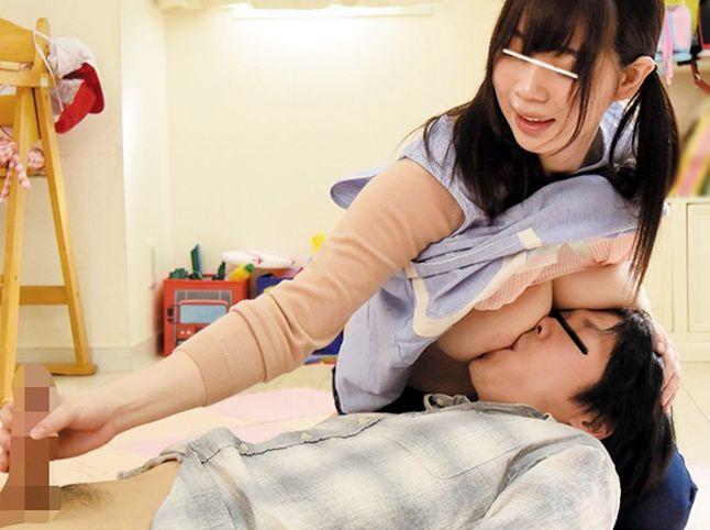 発情期の保育士さんが園児の保護者を完全ショタ扱い!授乳手コキで優しく勃起させ中出し懇願する赤ちゃんsex