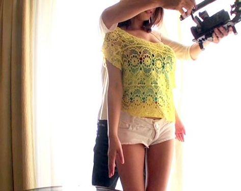 超絶美人!スレンダーGカップの巨乳美女との究極のハメ撮りsex!!
