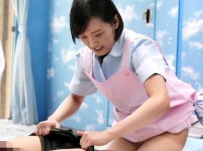 【素人企画】優しい看護学生が早漏改善をサポート!!MM号で素股に挑戦してもらうもチンポ挿入され暴発膣内射精される