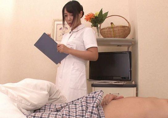 「すごい・・勃起」ナースが患者の怒張チンポを見て痴女化!寸止生殺し状態で挿入して腰振って勝手にイキまくる!