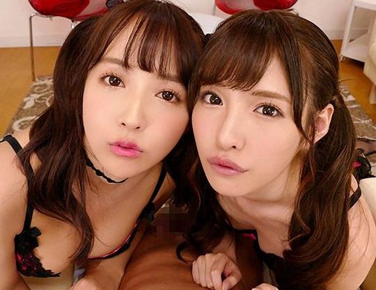 <三上悠亜×橋本ありな>超S級セクシーアイドルの二人がバーチャル主観で極上のハーレム逆3P