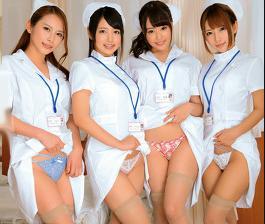 病院で男性患者を誘惑して反り立つペニスを使って自分の性欲を満たす淫乱ナースがエロすぎる!