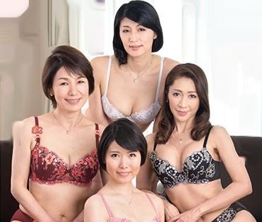 30代~60代のドスケベ四姉妹の熟女たち男2人がハーレム乱交!熟れた垂れ乳ボディをハメまくる