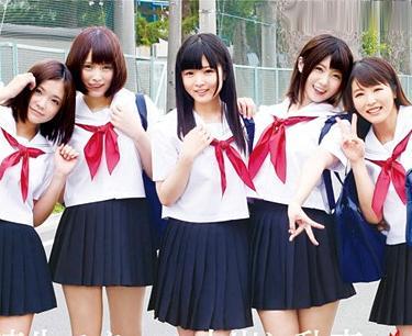 逆6P!セーラー服の女子校生5人と学校でパコってハーレム乱交!エロすぎる制服少女たち