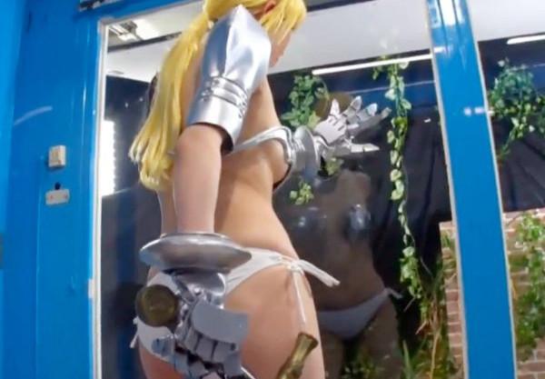 異世界にいた女騎士がMM号に乗車して男たちに犯され敏感マンコに膣内射精で種付けされる<マジックミラー>